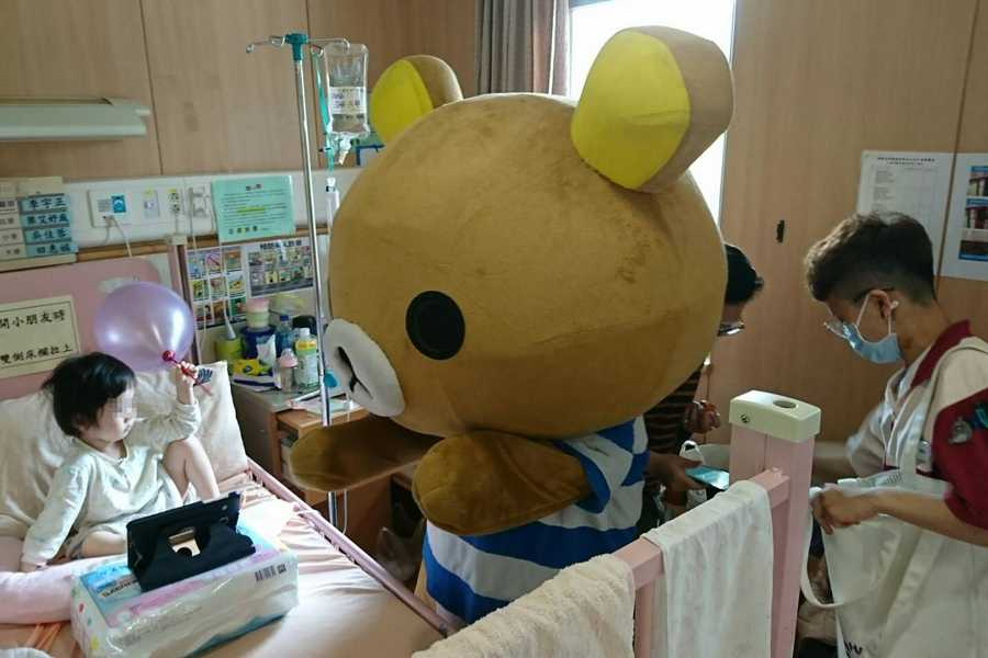 拉拉熊伴病童歡度兒童節 臺中慈濟醫院送歡樂
