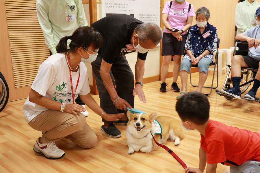 治療犬風靡樂智同學會 長輩轉換角色照顧狗